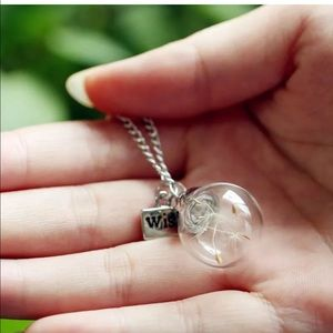 Jewelry - Dandelion globe necklace